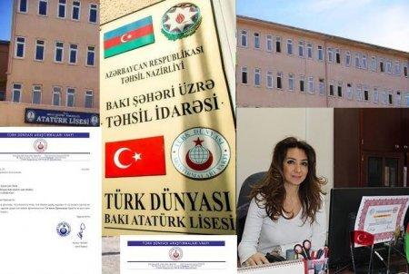 Bakı Atatürk liseyində müdhiş saxtakarlıq - FOTO